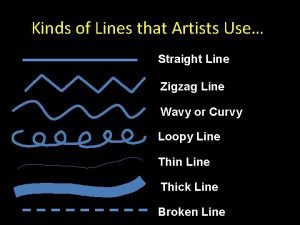 Kinds of Lines that Artists Use Straight Line