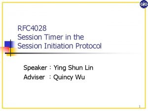 RFC 4028 Session Timer in the Session Initiation