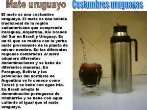 El mate es una costumbre uruguaya El mate