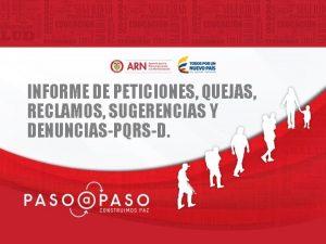INFORME DE PETICIONES QUEJAS RECLAMOS SUGERENCIAS Y DENUNCIASPQRSD