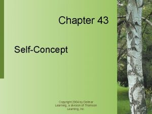 Chapter 43 SelfConcept Copyright 2004 by Delmar Learning
