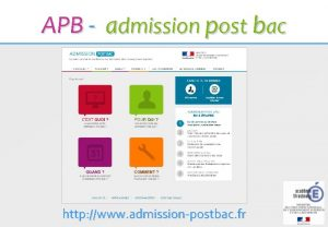 APB admission post bac http www admissionpostbac fr