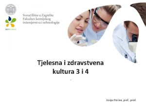 Tjelesna i zdravstvena kultura 3 i 4 Josipa
