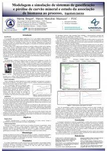 Modelagem e simulao de sistemas de gaseificao e