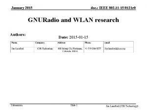 January 2015 doc IEEE 802 11 150121 r