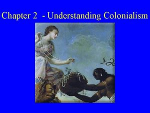 Chapter 2 Understanding Colonialism What is Colonialism What