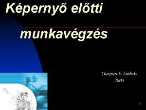 Kperny eltti munkavgzs Gasparetz Andrs 2003 1 Ergonmia