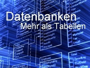 Datenbanken Mehr als Tabellen Datenbank Abfragen mit SQL