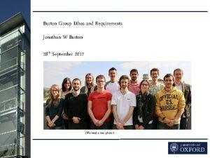 Burton Group Ethos etc 1 Burton Group Ethos