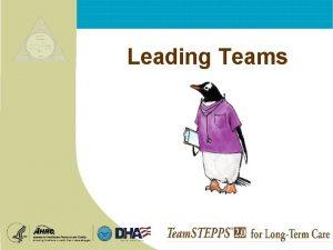 Leading Teams Leading Teams Exercise Leadership INSTRUCTIONS Mod