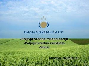 Poljoprivredna mehanizacija Poljoprivredno zemljite Silosi Subotica 26 02
