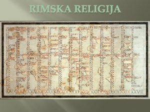RIMSKA RELIGIJA FASTI dani u kojima je doputeno