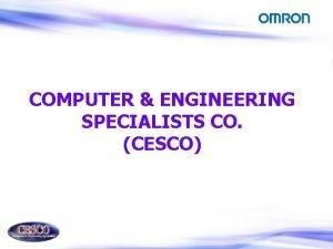 COMPUTER ENGINEERING SPECIALISTS CO CESCO COMPUTER ENGINEERING SPECIALISTS