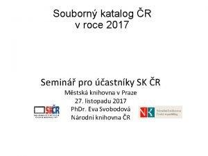 Souborn katalog R v roce 2017 Semin pro