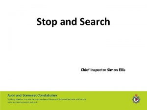 Stop and Search Chief Inspector Simon Ellis Stop