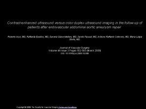Contrastenhanced ultrasound versus color duplex ultrasound imaging in