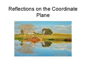 Reflections on the Coordinate Plane Reflections on the