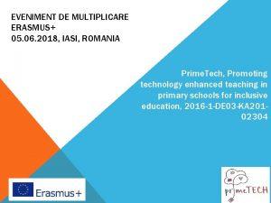 EVENIMENT DE MULTIPLICARE ERASMUS 05 06 2018 IASI