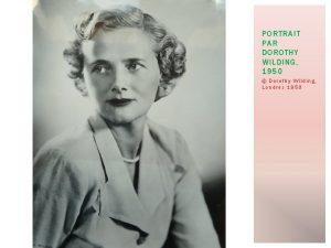 PORTRAIT PAR DOROTHY WILDING 1950 Dorothy Wilding Londres