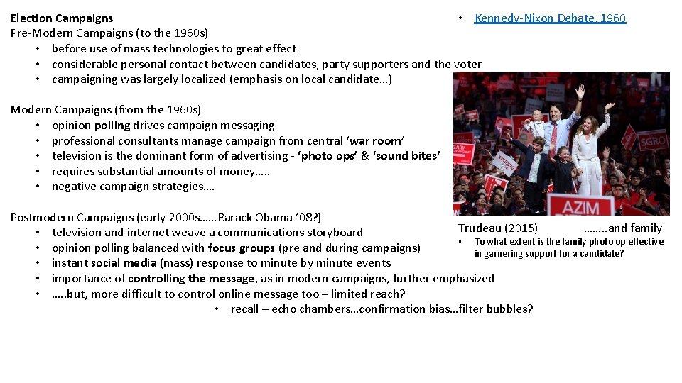 KennedyNixon Debate 1960 Election Campaigns PreModern Campaigns to