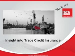 Insight into Trade Credit Insurance HDFC ERGO General