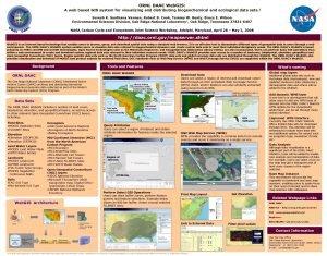 ORNL DAAC Web GIS A web based GIS