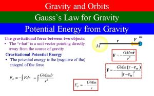 Gravity and Orbits Gausss Law for Gravity Potential