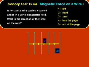 Concep Test 19 6 a Magnetic Force on