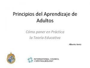 Principios del Aprendizaje de Adultos Cmo poner en