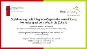 Digitalisierung heit integrierte Organisationsentwicklung Herrenberg auf dem Weg
