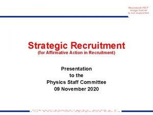 Strategic Recruitment for Affirmative Action in Recruitment Presentation