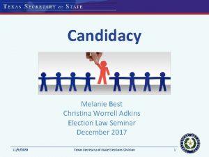Candidacy Melanie Best Christina Worrell Adkins Election Law