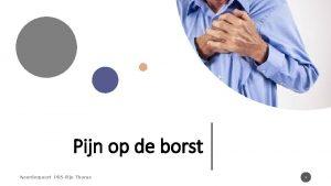 Pijn op de borst Noorderpoort PRS Pijn Thorax