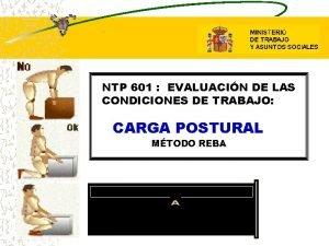 NTP 601 EVALUACIN DE LAS CONDICIONES DE TRABAJO