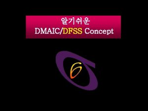 DMAICDFSS Concept DMAIC Methodology DFSS Methodology DIDOV 5