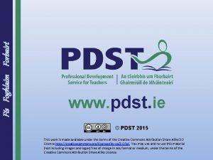 Fs Foghlaim Forbairt www pdst ie PDST 2015