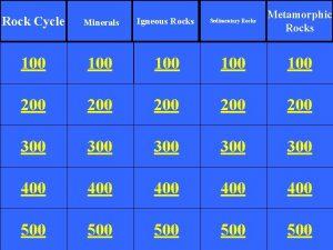 Metamorphic Rocks Rock Cycle Minerals Igneous Rocks Sedimentary