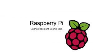 Raspberry Pi Carmen Koch und Leonie Born Erfinder