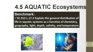 4 5 AQUATIC Ecosystems Benchmark SC 912 L