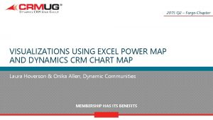 2015 Q 2 Fargo Chapter VISUALIZATIONS USING EXCEL