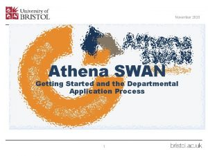 November 2020 Athena SWAN Getting Started and the