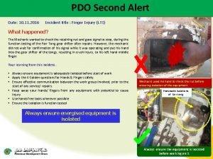 PDO Second Alert Date 10 11 2016 Incident