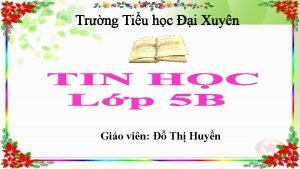 Trng Tiu hc i Xuyn Gio vin Th