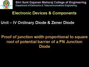 Shri Sant Gajanan Maharaj College of Engineering Department