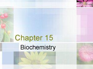 Chapter 15 Biochemistry Energy of Life Sun energy