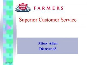 Superior Customer Service Missy Allen District 65 1192020