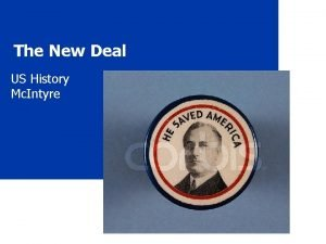 The New Deal US History Mc Intyre The