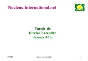 NucleusInternational net Tarefa do Diretor Executivo de uma