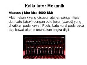 Kalkulator Mekanik Abacus kirakira 4000 SM Alat mekanik