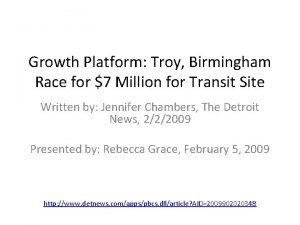 Growth Platform Troy Birmingham Race for 7 Million
